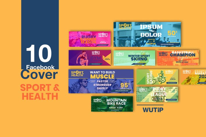 Thumbnail for 10 Facebook Cover - Sport and Health