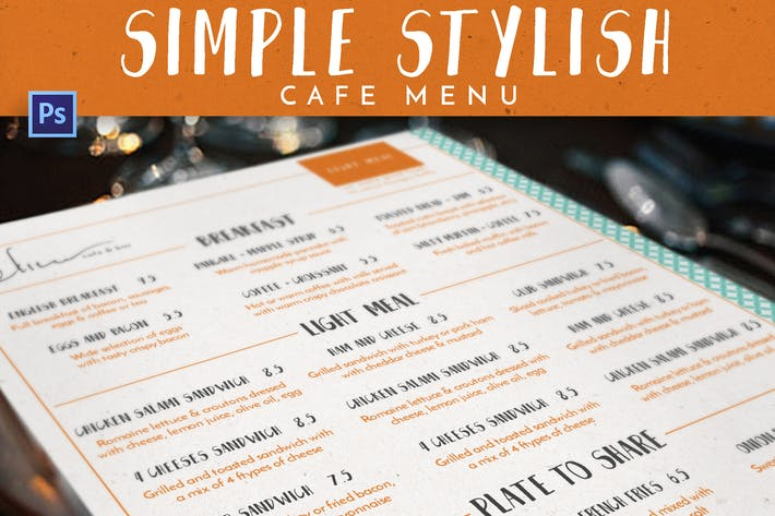 Thumbnail for Simple Stylish Cafe Menu