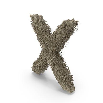 Zerstörungsstein Buchstabe X