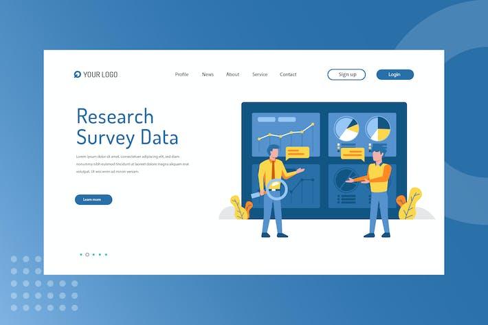 Research Survey Data Landing Page