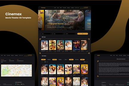 Cinemax - Movie Theater XD Template