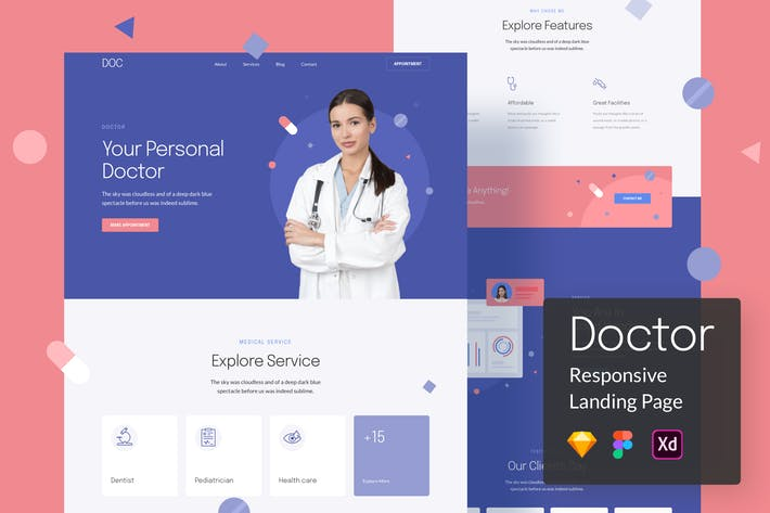 Thumbnail for Doctor Responsive Landing Page