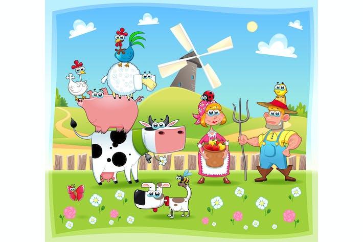 Thumbnail for Famille de ferme drôle