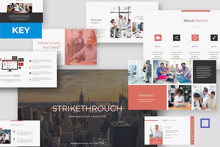 Thumbnail for Strikethrough - Plantilla de Presentación de Keynote