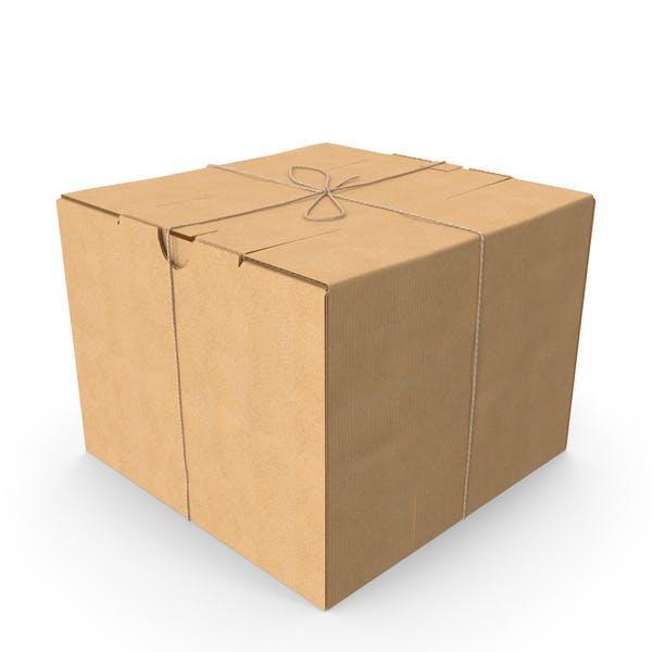 Картонная коробка с шпагатом