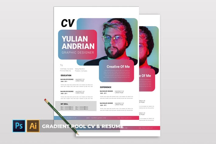 Thumbnail for Gradient Pool | CV & Resume