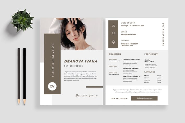 Cover Image For Clean Resume / CV Template 10