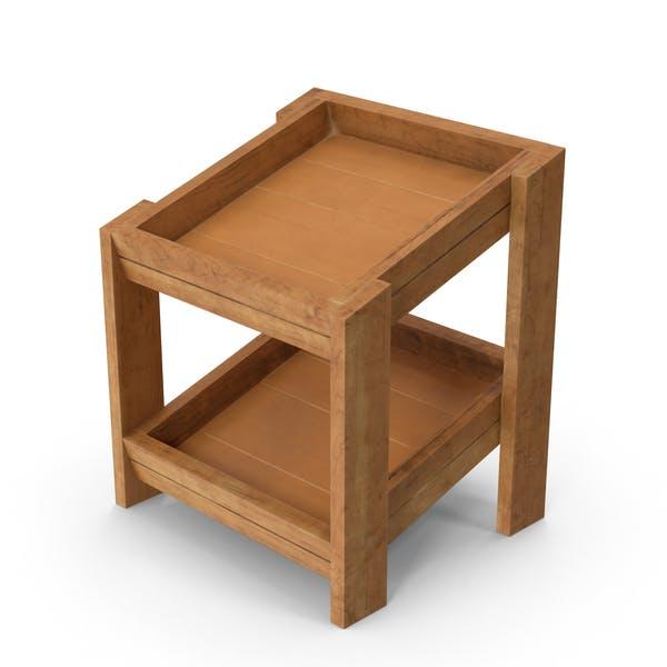 Wooden Merchandise Shelf