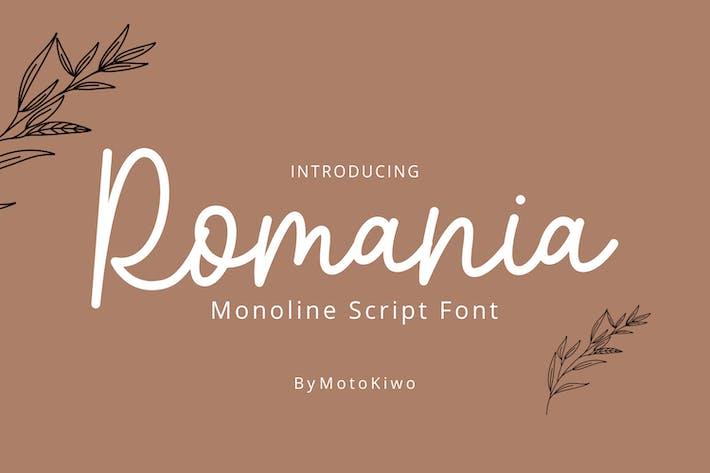 Thumbnail for Romania - Monoline Script Font