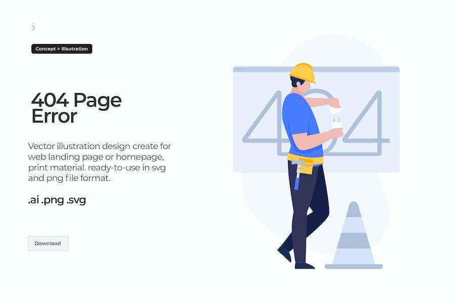 404 Erro - Illustration