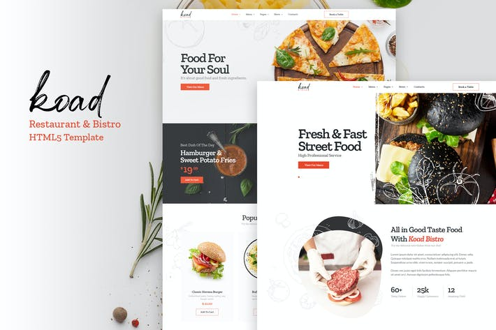 Thumbnail for Koad - Restaurant & Bistro HTML Template