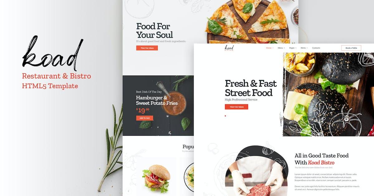 Download Koad - Restaurant & Bistro HTML Template by Nunforest