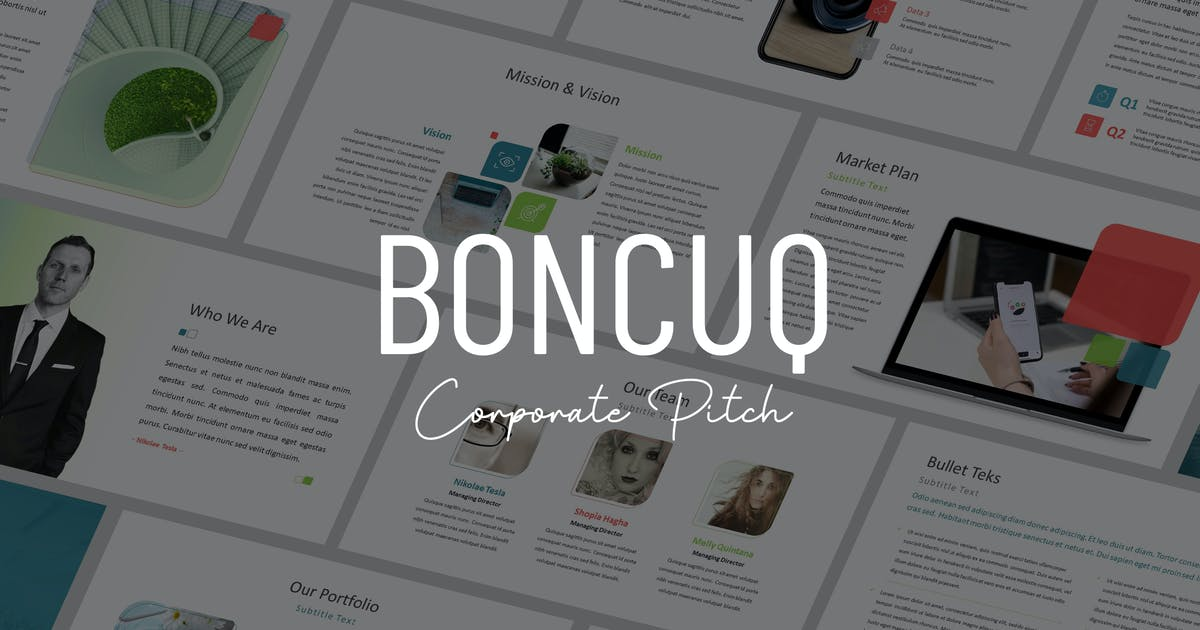 Download Boncuq - Corporate Powerpoint Template by Slidehack