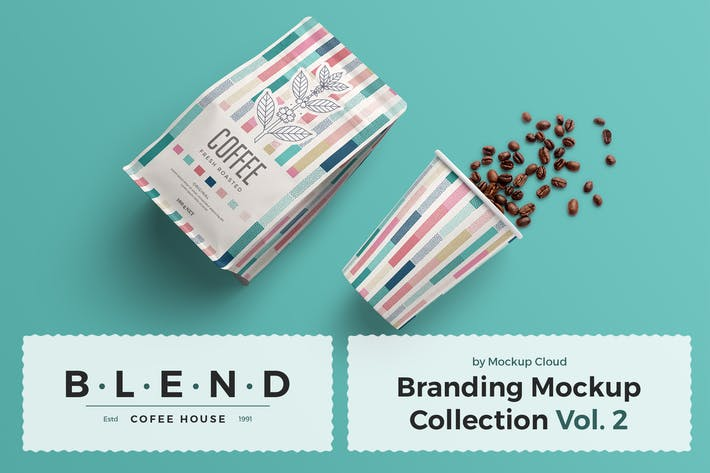 Thumbnail for Blend - Coffeehouse Branding Mockup Vol. 2