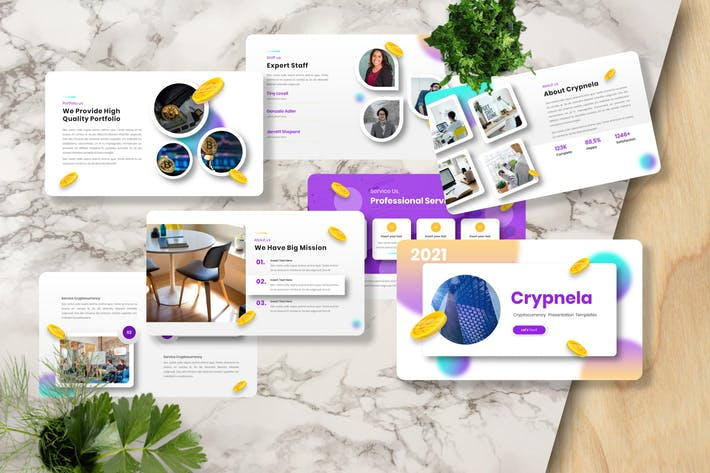 Crypnela - Cryptocurrency Googleslide Templates