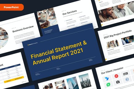 Business Corporate Annual Report Powerpoint