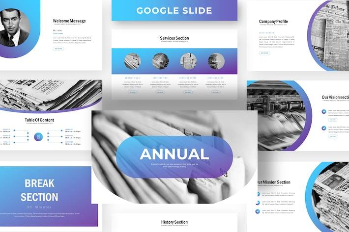 Thumbnail for Annual - Business Google Slide Template