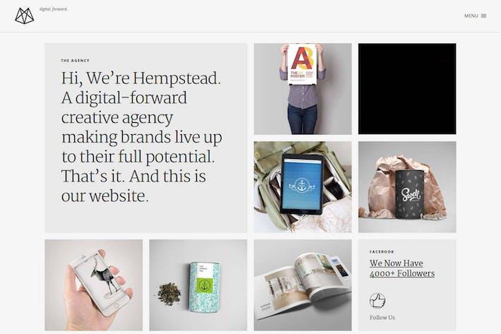 Thumbnail for Hempstead — Отзывчивый Шаблон Портфолио Drupal