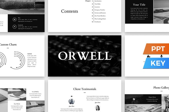 Thumbnail for Шаблон презентации Orwell