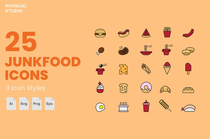 Thumbnail for Junkfood - Icon Set