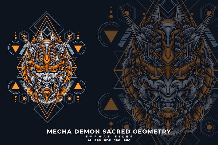 Cover Image For MECHA DEMON SACRED GEOMETRY