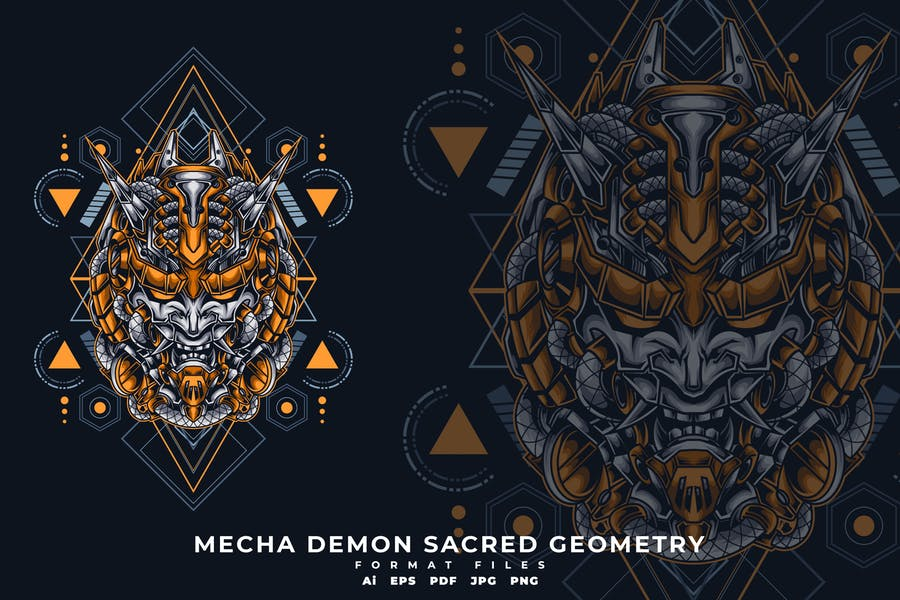 MECHA DEMON SACRED GEOMETRY