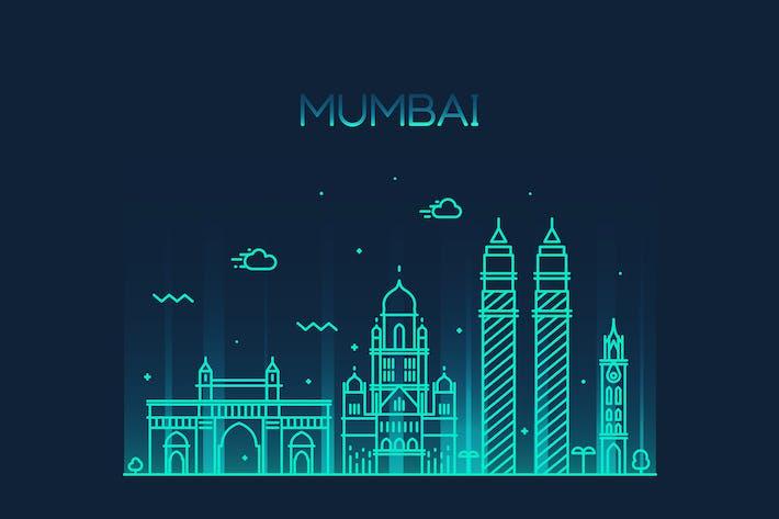 Cover Image For Mumbai skyline, India