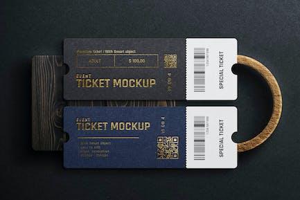 Luxury Mockup - Realistic Ticket