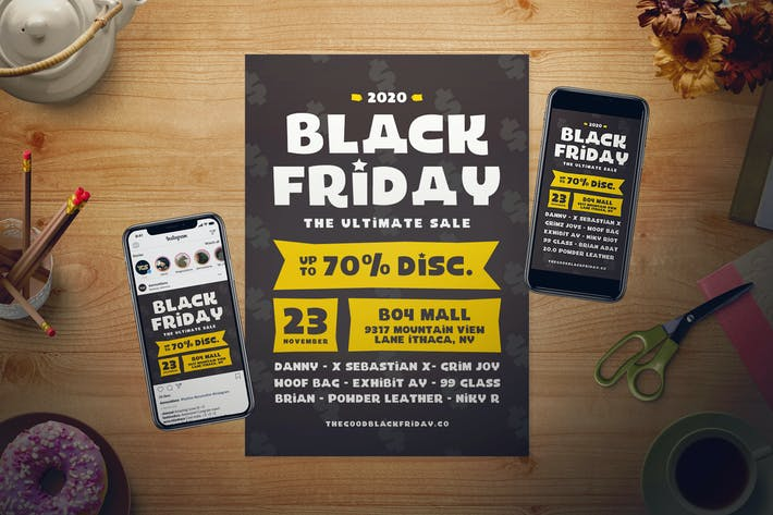 Thumbnail for Black Friday Flyer Set