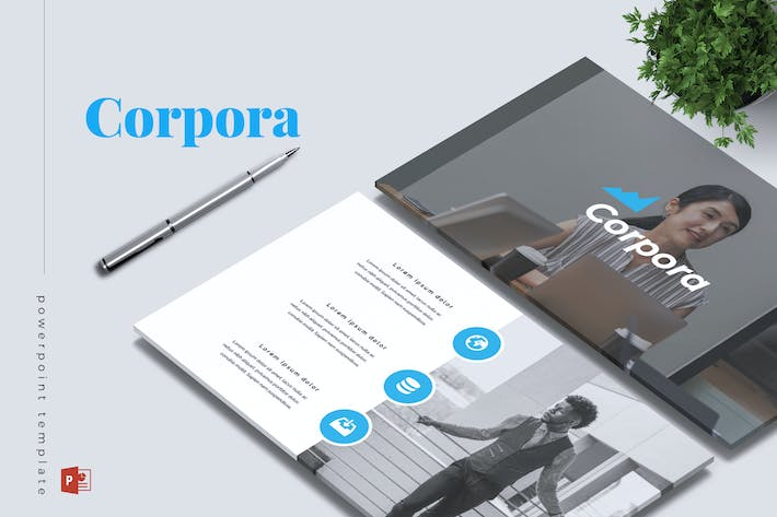 Thumbnail for CORPORA - Company Profile Powerpoint Template