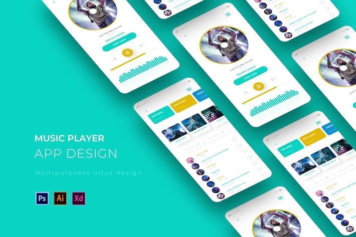 Thumbnail for Music Player App Design