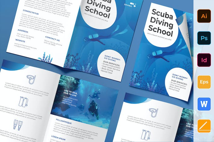 Thumbnail for Diving School Brochure Bifold