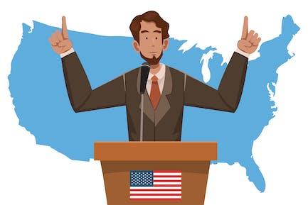 President's Day - Illustration