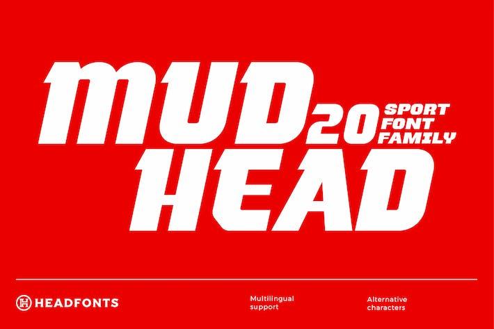 Thumbnail for Mudhead Family | Sports Display Font