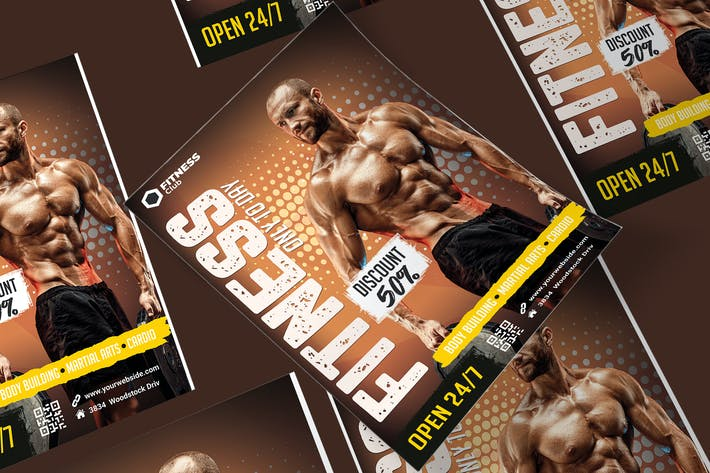 Thumbnail for Fitness Poster PSD Template