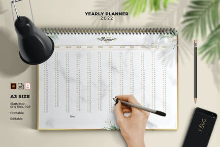 Lux yearly planner A3