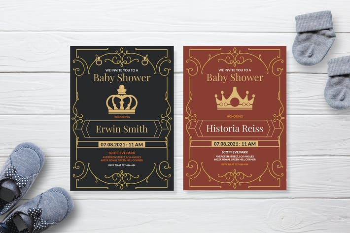 Thumbnail for Royal Family Crown - Baby Shower Invitation