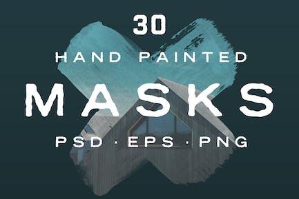 Formas de máscara de fotos pintadas a Mano.