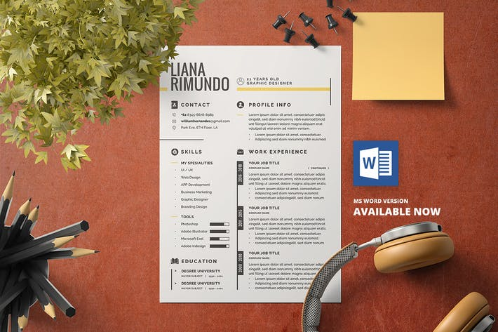 Cover Image For Minimalist CV Resume V.1