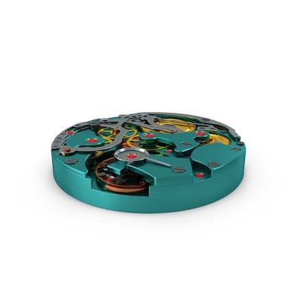 Reloj Mecanismo Azul Nuevo