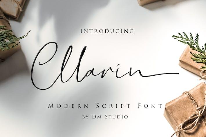 Thumbnail for Cllarin - Fuente de escritura moderna