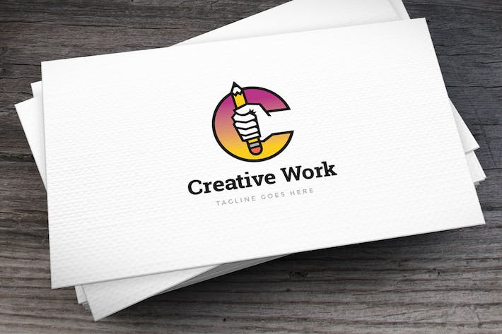 Thumbnail for Creative Work Letter C Logo Template