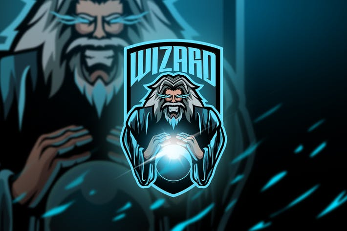 Thumbnail for wizard Old - Mascot & Esport Logo
