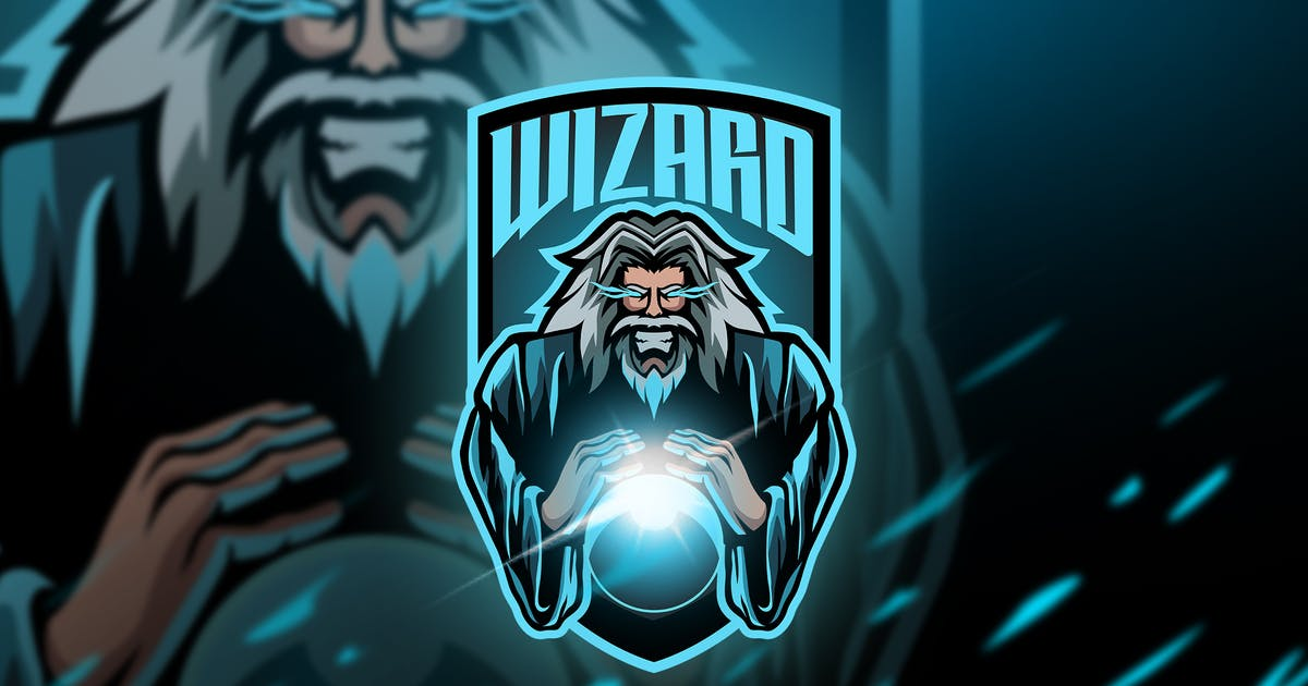 Download wizard Old - Mascot & Esport Logo by aqrstudio