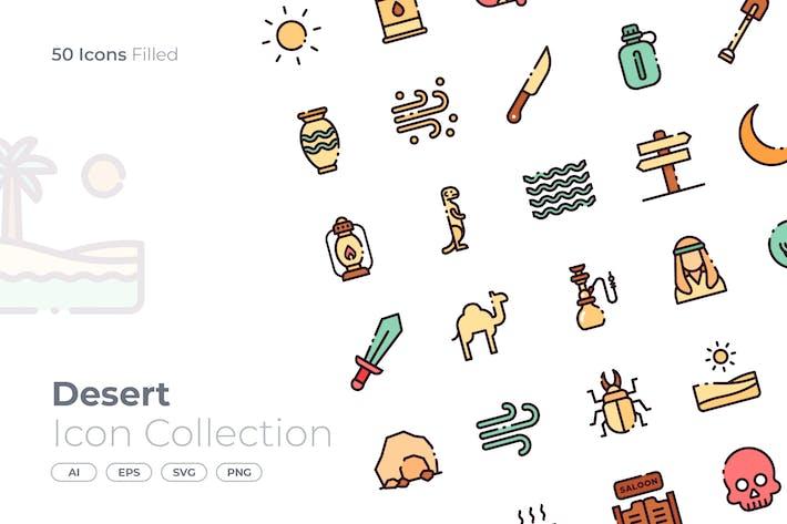 Thumbnail for Desert Filled Icon