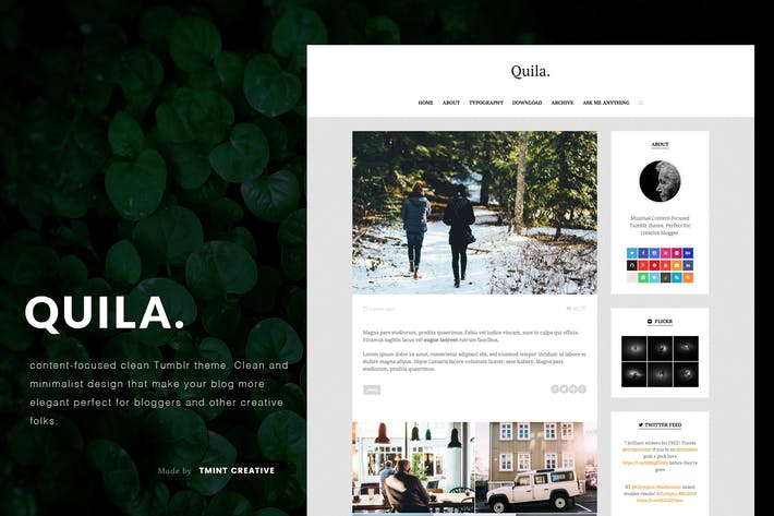Thumbnail for Quila Tumblr Theme