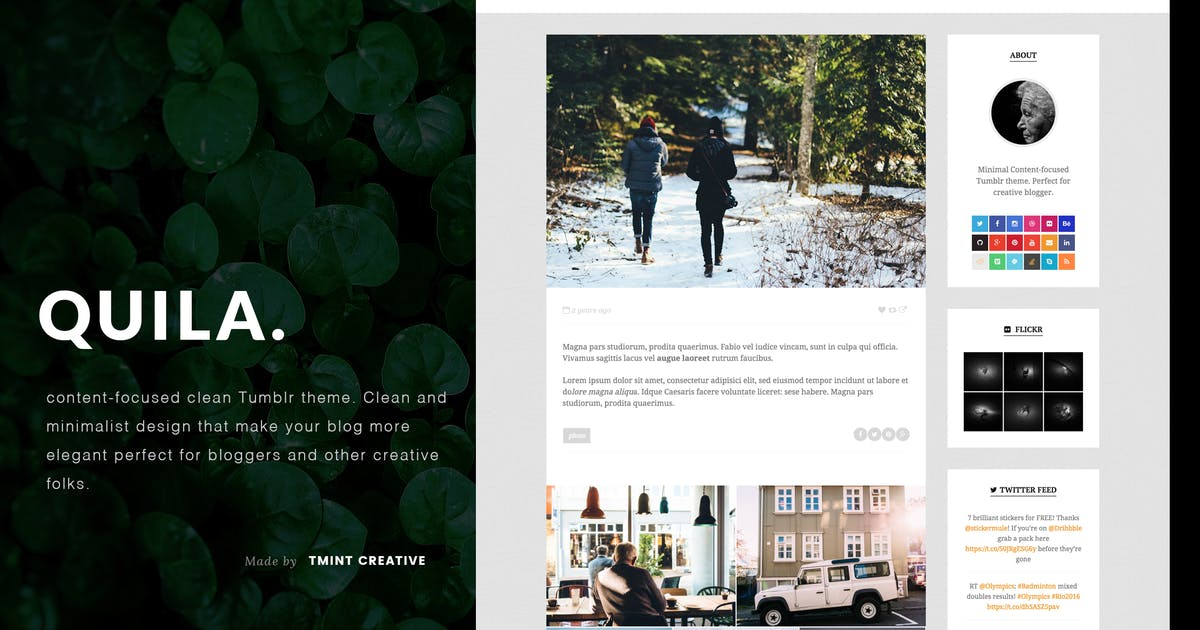 Download Quila Tumblr Theme by TMint