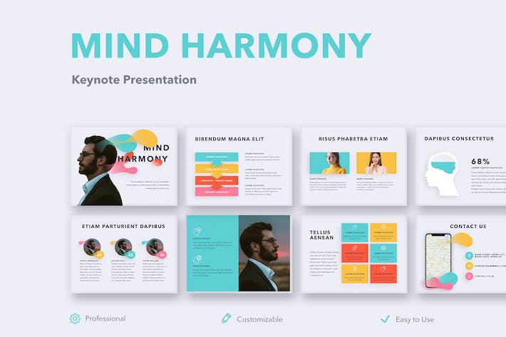 Thumbnail for Mind Harmony Keynote Template