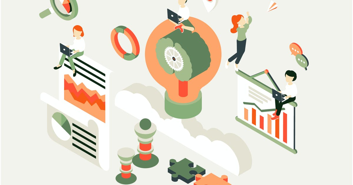 Download Business Process Isometric Illustration by angelbi88