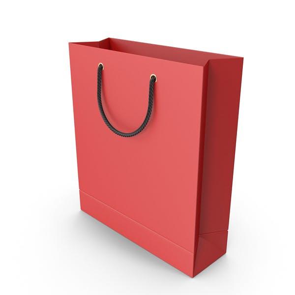 Красная сумка с черными ручками